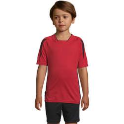 Textil Děti Trička s krátkým rukávem Sols Maracana - CAMISETA NIÑO MANGA CORTA Rojo