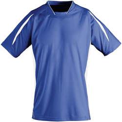 Textil Děti Trička s krátkým rukávem Sols Maracana - CAMISETA NIÑO MANGA CORTA Azul