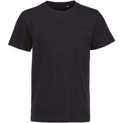 Textil Děti Trička s krátkým rukávem Sols Camiseta de niño con cuello redondo Negro