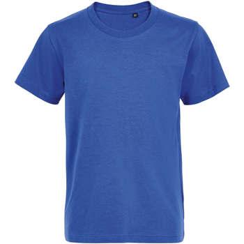Textil Děti Trička s krátkým rukávem Sols Camiseta de niño con cuello redondo Azul