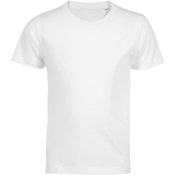 Textil Děti Trička s krátkým rukávem Sols Camiseta de niño con cuello redondo Blanco