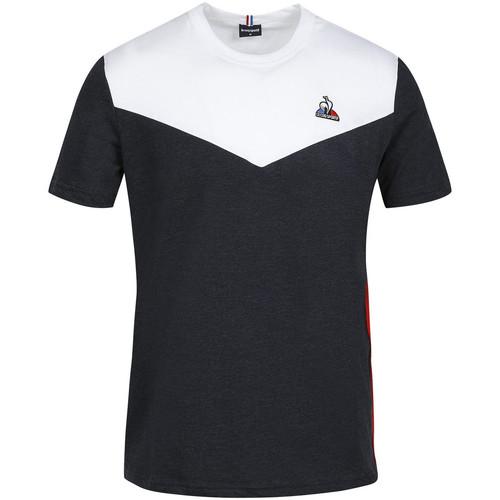 Textil Muži Trička s krátkým rukávem Le Coq Sportif Saison 1 Tee SS N°1 Modrá