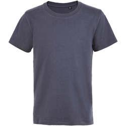 Textil Děti Trička s krátkým rukávem Sols Camiseta de niño con cuello redondo Gris