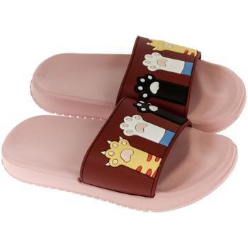 Boty Dívčí pantofle John-C Detské ružové šľapky MAI ružová
