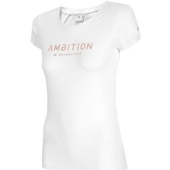 Textil Ženy Trička s krátkým rukávem 4F TSD033 Bílé