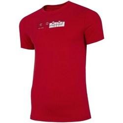 Textil Muži Trička s krátkým rukávem 4F TSM021 Červené
