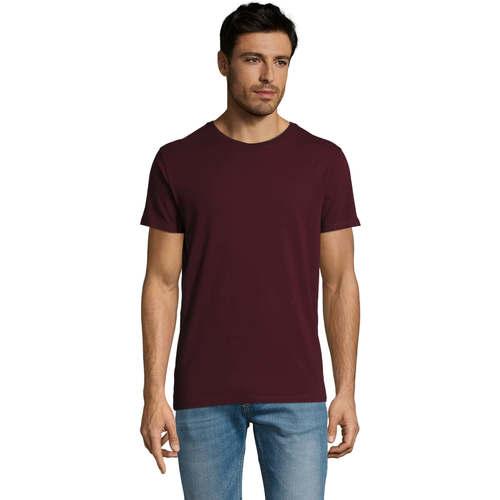 Textil Muži Trička s krátkým rukávem Sols Martin camiseta de hombre Burdeo