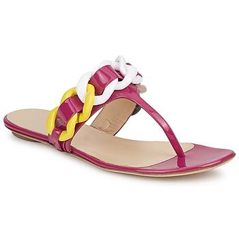Boty Ženy Žabky Versus by Versace FSD364C Růžová / Bílá / Žlutá