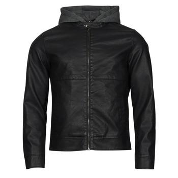 Textil Muži Kožené bundy / imitace kůže Jack & Jones JCOWILLY Černá
