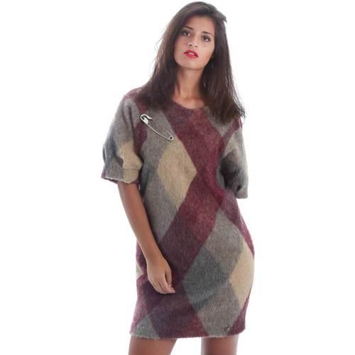 Textil Ženy Krátké šaty Y Not? Y17AI048 Šedá