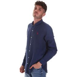 Textil Muži Košile s dlouhymi rukávy U.S Polo Assn. 58667 50816 Modrý