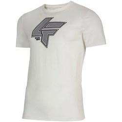 Textil Muži Trička s krátkým rukávem 4F TSM010 Bílé