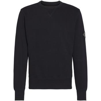 Textil Muži Mikiny Calvin Klein Jeans Monogram Sleeve Badge Černá