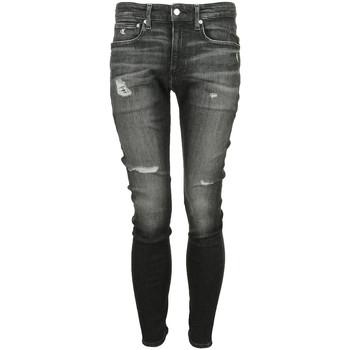 Textil Muži Rifle skinny Calvin Klein Jeans Jean Skinny Černá