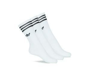 Spodní prádlo Podkolenky adidas Originals SOLID CREW SOCK X3 Bílá