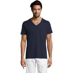Textil Muži Trička s krátkým rukávem Sols Master camiseta hombre cuello pico Azul