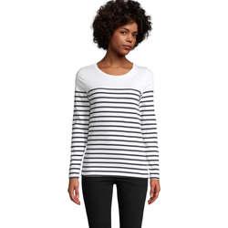 Textil Ženy Trička s dlouhými rukávy Sols Matelot camiseta mujer manga larga Blanco