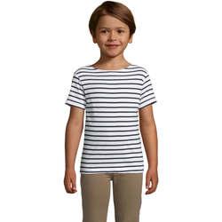 Textil Děti Trička s krátkým rukávem Sols Camiseta niño cuello redondo Azul