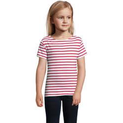 Textil Děti Trička s krátkým rukávem Sols Camiseta niño cuello redondo Rojo