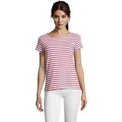 Textil Ženy Trička s krátkým rukávem Sols Camiseta de mujer a rayas Rojo