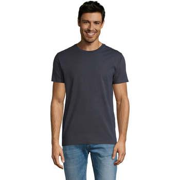 Textil Muži Trička s krátkým rukávem Sols Martin camiseta de hombre Gris