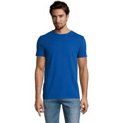 Textil Muži Trička s krátkým rukávem Sols Camiserta de hombre de cuello redondo Azul