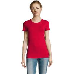Textil Ženy Trička s krátkým rukávem Sols Camiserta de mujer de cuello redondo Rojo