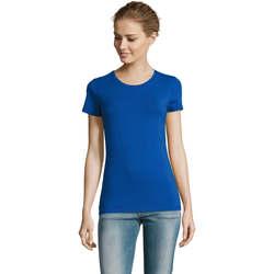 Textil Ženy Trička s krátkým rukávem Sols Camiserta de mujer de cuello redondo Azul