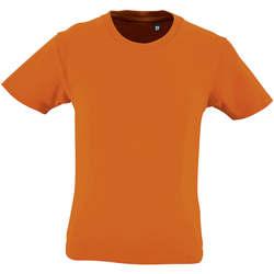 Textil Děti Trička s krátkým rukávem Sols CAMISETA DE MANGA CORTA Naranja