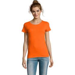 Textil Ženy Trička s krátkým rukávem Sols CAMISETA DE MANGA CORTA Naranja