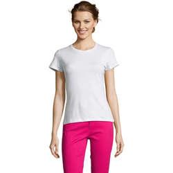 Textil Ženy Trička s krátkým rukávem Sols Miss camiseta manga corta mujer Blanco