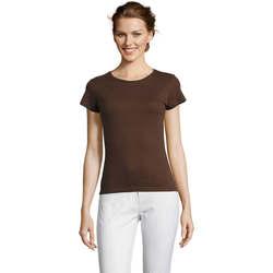 Textil Ženy Trička s krátkým rukávem Sols Miss camiseta manga corta mujer Marrón