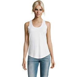 Textil Ženy Tílka / Trička bez rukávů  Sols Moka camiseta mujer sin mangas Blanco