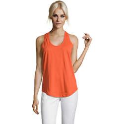 Textil Ženy Tílka / Trička bez rukávů  Sols Moka camiseta mujer sin mangas Naranja