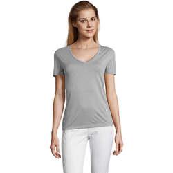 Textil Ženy Trička s krátkým rukávem Sols MOTION camiseta de pico mujer Gris