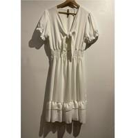 Textil Ženy Krátké šaty Fashion brands 9176-BLANC Bílá