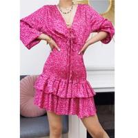Textil Ženy Krátké šaty Fashion brands 22974-FUSHIA Fuchsiová