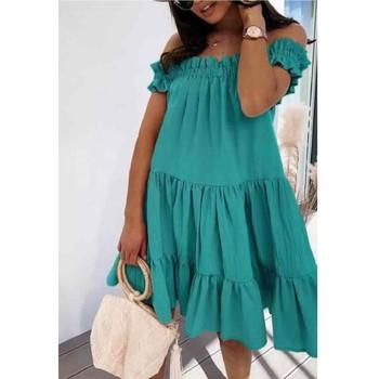 Textil Ženy Krátké šaty Fashion brands R5119-VERT-D-EAU Zelená