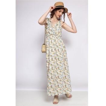 Textil Ženy Krátké šaty Fashion brands R182-BEIGE Béžová