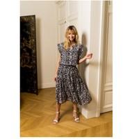Textil Ženy Halenky / Blůzy Fashion brands CK08138-MARINE Tmavě modrá