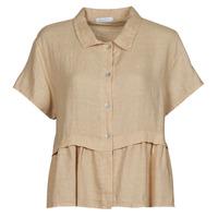 Textil Ženy Halenky / Blůzy Fashion brands 10998-BEIGE Béžová