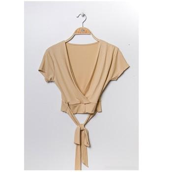 Textil Ženy Halenky / Blůzy Fashion brands FR029T-BEIGE Béžová