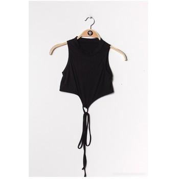 Textil Ženy Halenky / Blůzy Fashion brands FR070-BLACK Černá