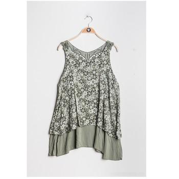 Textil Ženy Halenky / Blůzy Fashion brands 9673-KAKI Khaki