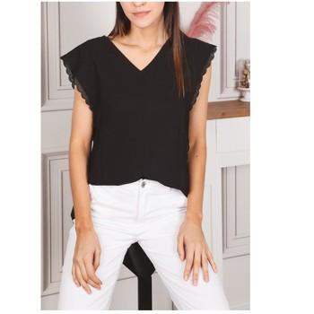Textil Ženy Halenky / Blůzy Fashion brands F2106-BLACK Černá