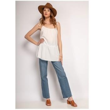 Textil Ženy Halenky / Blůzy Fashion brands 490-WHITE Bílá