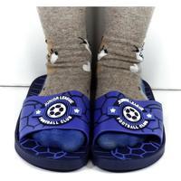 Boty Děti pantofle Wink Detské modré šľapky FOOTBALL modrá