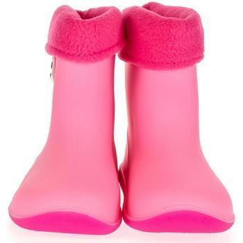 Boty Děti Holínky Lin Detské ružové gumáky BEAR ružová