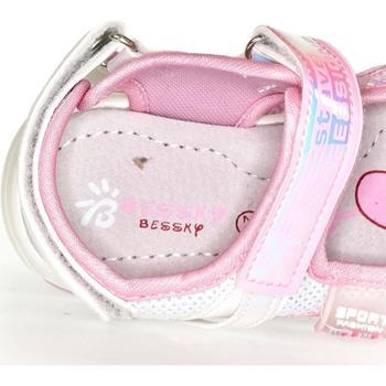Boty Dívčí Sandály Bessky Detské biele sandále  CELESTE biela