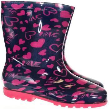 Boty Chlapecké Holínky Bbs Detské ružové gumáky PINK HEART ružová
